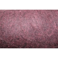 Aubergine color carded wool