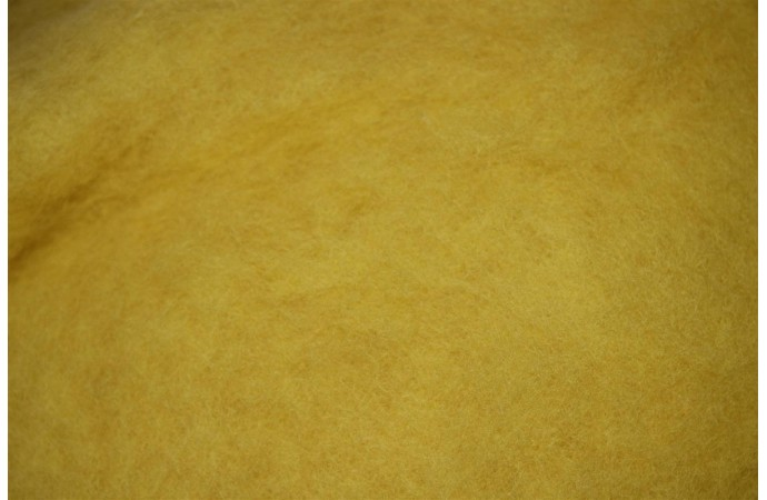 Lemon color carded wool