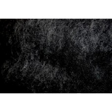 Black color carded wool