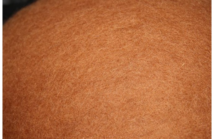 Caramel color carded wool