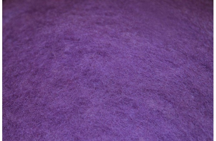 Lavender color carded wool