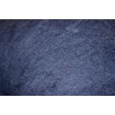 Dark blue carded wool