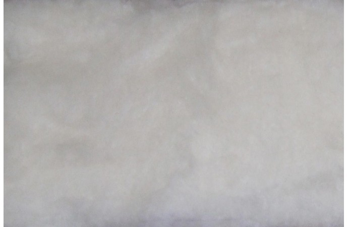White color carded wool
