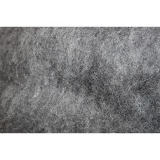 Grey color carded wool