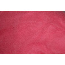 Rose color carded wool