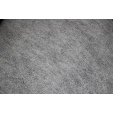 Light Grey color carded wool
