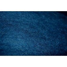 Dark turquoise carded wool