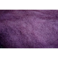 Violet color carded wool
