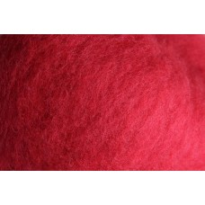Cherry carded wool
