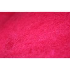 Raspberry color carded wool