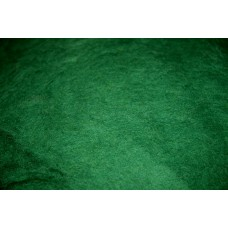 Green color carded wool