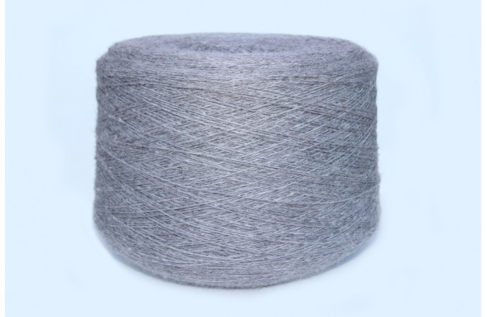Grey yarn (Merino wool ) on cones
