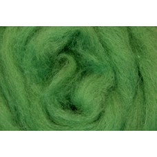 Light green color merino wool tops