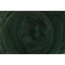 Dark green color merino wool tops