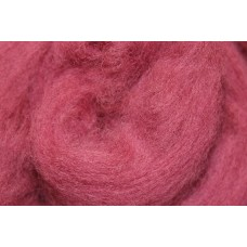 Light red merino wool tops